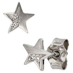 Damen-Stecker mattiert 14 Karat (585) Weißgold 4 Diamant 0.022 ct. Dreambase, http://www.amazon.de/dp/B00AFXDGCQ/ref=cm_sw_r_pi_dp_9Gfjtb1FW5Z5R