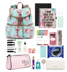 """what's in my backpack"" by cherryblossxm ❤ liked on Polyvore"