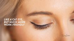 There are a few makeup techniques every woman should have in her arsenal. Take, for example, the kitten eye. This eyeliner trick is an easy way to dress up your everyday look, and it's actually pretty simple. All you need is a good liquid eyeliner pen and a flick of the wrist. Just watch.