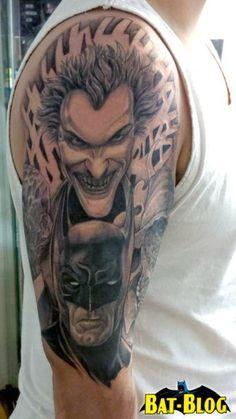 Batman and Joker Tattoo Art - Bing Images Batman Tattoo Sleeve, Sleeve Tattoos, Cairns, Tattoo Art, Bing Images, Piercings, Tattoo Ideas, Joker, Ink