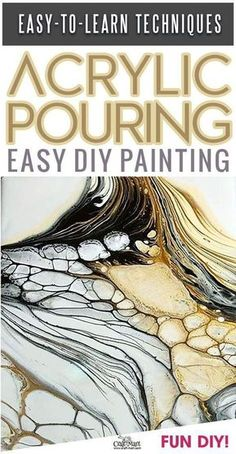 Learn acrylic pouring and become an artist really fast! Success and lots of fun guaranteed! Get painting supplies and start creating DIY paintings for your home decor with these simple Acrylic pouring recipes. Supplies kit or your pouring art can be the b Acrylic Pouring Techniques, Acrylic Pouring Art, Acrylic Art, Cast Acrylic, Pour Painting, Diy Painting, Fluid Acrylics, Resin Art, Diy Art