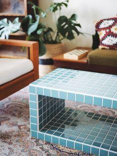 Tiled Coffee Table, Diy Coffee Table, Diy Table, Furniture Makeover, Diy Furniture, Tile Tables, Room Decor, Decoration, Home Living Room