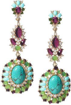Turquoise Chandelier Earrings - Lyst