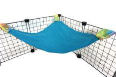 blue plaid corner tent hammock