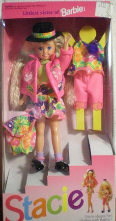 Stacie - Littlest Sister of Barbie (well at the time, then came Kelly/ I got this doll the summer of Andrew 199?)
