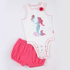 """I would go crazy having a baby girl! <3   DISNEY CUDDLY BODYSUIT™ and Shorts Set – The Little Mermaid """"Blue Grotto"""""""