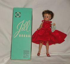 Vogue Jill w/Tagged Dress #7511, Wrist Tag, and Box, 1957