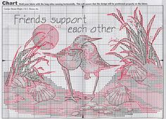 sandpipers friends support each other 2/3
