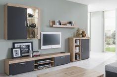 STELA kombinácia 01 Remo, Wall Shelves Design, Flat Screen, Furniture, Home Decor, Blood Plasma, Decoration Home, Room Decor, Flatscreen