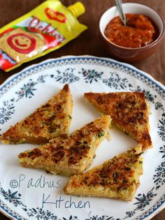 Bread Rava Toast- a quick and delicious dish prepared with bread and semolina. It is instant, easy to make. Makes a light breakfast and a tea time snack. Bread Sandwich Recipe Indian, Toast Sandwich, Sandwich Recipes, Snack Recipes, Cooking Recipes, Breakfast Recipes, Tea Time Snacks, Indian Breakfast, Breakfast Items