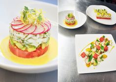 Crab Salad with Yellow Curry Cream, Watermelon, Avocado and Lime
