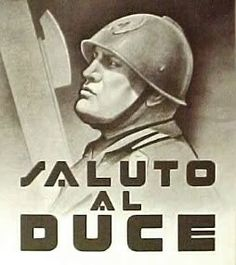 "Italian  WW2  ""Salute To Duce"""