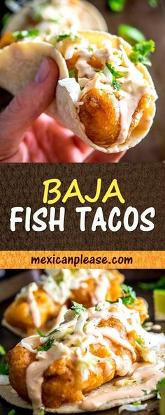 It's tough to beat fried fish tacos drenched in a fiery Chipotle Crema. Add some pickled cabbage and you've officially entered the realm of Baja Fish Tacos. I used mahi mahi for this batch but there's lots of leeway on the fish -- cod, tilapia and catfish are all good choices too. #fish #tacos mexicanplease.com