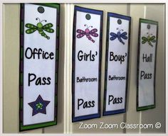 FREE! Dragonfly theme hall passes for the classroom. This blog post offers a few ideas on how to use them.