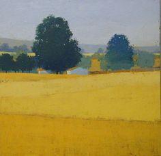 Yellow Fields : landscape paintings : Landscapes, Paul Balmer