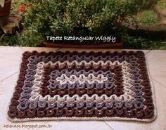 alfombra-wiggly-6 Crochet Hot Pads, Crochet Mat, Manta Crochet, Crochet Stitches, Crochet Hooks, Embroidery Stitches, Crochet Patterns, Crochet Home Decor, Crochet Crafts