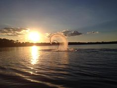 Sun Sets!  Central Flordia Flyboarding