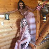 Nina Dobrev Was Pretty in Pink in Her Bridesmaid Dress at Julianne Hough's Wedding – Give Me The Newz
