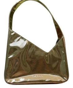 Prada Green Shimmer Patent Leather Tote Bag. Get one of the hottest styles  of the f2e2f60a55cb4