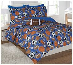 Kids' Comforters - Fancy Collection Kidsteens Sports Football Basketball Baseball Soccer Design Luxury Comforter Furry Buddy Included full >>> Continue to the product at the image link.