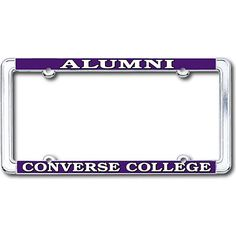 Product: Converse College Alumni Thin Dome License Plate Frame