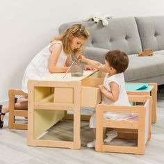 Kids Table And Chairs, Kid Table, Toddler Furniture, Baby Furniture, Toddler Table, Toddler Bed, Plywood Table, Tree Table, Waldorf Toys