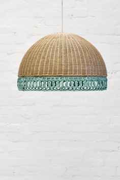 Unique, yet stylish our rattan Florence light shade have a contrasting lace edge and are the perfect size at 36cm in height and 54cm in diameter.  They are also available in a range of colours.  Shade only.