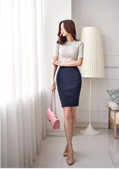 Have a Nice Day♥'s media statistics and analytics Young Fashion, Work Fashion, Asian Fashion, Fashion Outfits, Womens Fashion, Corporate Attire, Business Casual Attire, Bridal Blouse Designs, Thing 1