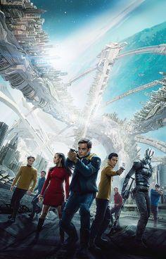 Pavel Chekov, James T. Kirk, Spock, Hikaru Sulu, Leonard H. McCoy, Montgomery Scott, Nyota Uhura, Jaylah || Star Trek AOS