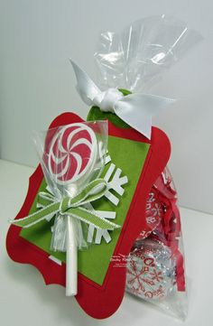 Stampin' Up! Christmas by Becky Roberts at Inking Idaho: Peppermint Lollipop Candy Bags