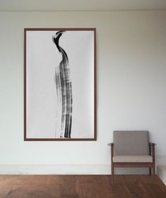 Perfect Original Abstract Ink Large Size Painting On Paper Movement Art Ink Wind  Wave Linear Nature Black White Wall Art Decor By Cristina Ripper