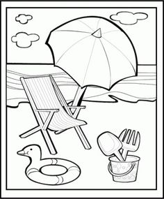 disegni da colorare mare spiaggia - Cerca con Google Summer Coloring Pages, Adult Coloring Pages, Coloring Sheets, Coloring Books, Small Drawings, Fish Drawings, Happy Summer, Summer Kids, Beach Drawing