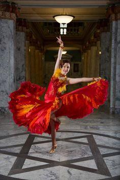 Stunning Fire Ballroom Dance Dress by SheriLoraine on Etsy https://www.etsy.com/listing/187080405/stunning-fire-ballroom-dance-dress
