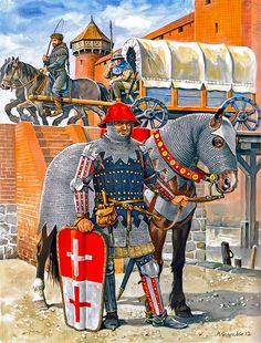 """""""Military contingents of Elbing residents in the service of the Teutonic Order, approx. 1420"""""""
