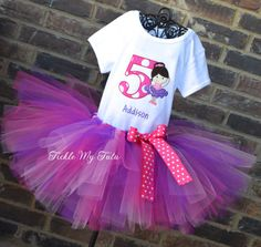 Current turnaround time is posted above the add to cart button.    Your little girl will look ADORABLE in this ballerina themed birthday outfit. The