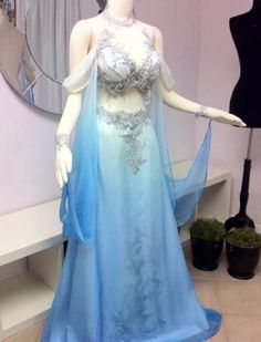 my husband would think this is a belly dancer costume & freak out! Inspiration for Blue Fairy costume or Sleeping beauty - Costume by Firefly Path Pretty Outfits, Pretty Dresses, Beautiful Dresses, Blue Fairy Costume, Water Fairy Costume, Fairy Costumes, Fantasy Costumes, Sleeping Beauty Costume, Belly Dancer Costumes