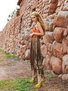 """Princess Inca"" | Model: Tiiu Kuik, Photographer: Michael Filonow, Vogue Latin America, August 2011"