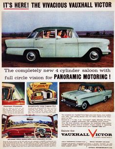 The Vivacious Vauxhall Victor, 1957 advertisement.