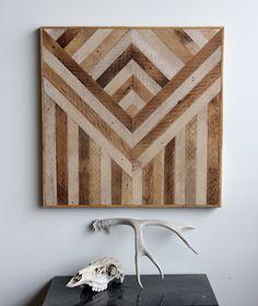 Geometric Wood Wall Panels