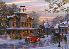 Jigsaw Puzzles - Dominic Davidson: Driving Home for Christmas (1000 Piece Eurographics Jigsaw Puzzle)