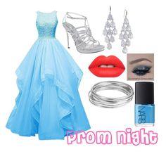 """prom night "" by abelinaruiz26 ❤ liked on Polyvore featuring mode, Nina, Carolee, Lime Crime, Worthington, NARS Cosmetics, women's clothing, women, female en woman"