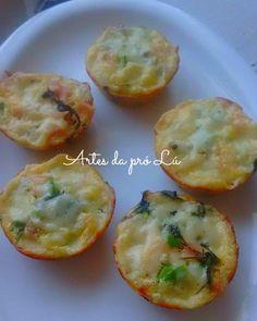 Artes da Pró Lú: Omeletes na forma de cupcakes ( fácil)