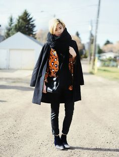 Crow's Nest Knits Oversized Knit Scarf, Choies Jacket, Articles Of Society Waxy Jeans, To Be Announced Velvet Ankle Boots