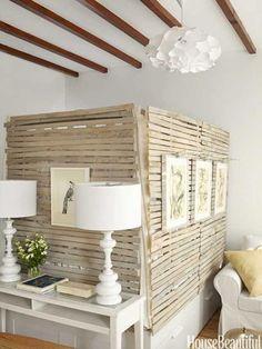 Hier zit het BED ACHTER VERSTOPT! :D  Studio Apartment Kitchen - Small Kitchen Decor Ideas - House Beautiful