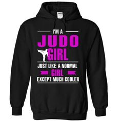 Judo girl is cooler - #matching shirt #tshirt illustration. SECURE CHECKOUT => https://www.sunfrog.com/LifeStyle/Judo-girl-is-cooler-3767-Black-13425551-Hoodie.html?68278