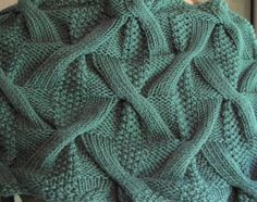 Bohemica Cowl.  The secret to its depth - and its reversibility - is a unique double cable stitch pattern.