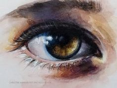 Mixed Media Demo with Watercolor and Colored Pencils Eye by Ch.Karron - YouTube