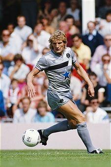 Jeff Clarke of Newcastle Utd in Newcastle United Football, St James' Park, Black N White, Football Players, Kicks, 1980s, Running, Sports, Army
