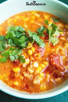 Double-corn soup - Do it Yourself & More! Soup Recipes, Vegan Recipes, Corn Soup, Kimchi, Chana Masala, Pesto, Healthy Eating, Lunch, Cooking