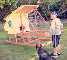 Lots of chicken tractor inspiration! Mobile Chicken Coop, Backyard Chicken Coops, Chicken Coop Plans, Building A Chicken Coop, Diy Chicken Coop, Chickens Backyard, Portable Chicken Coop, Chicken Feeders, Chicken Home